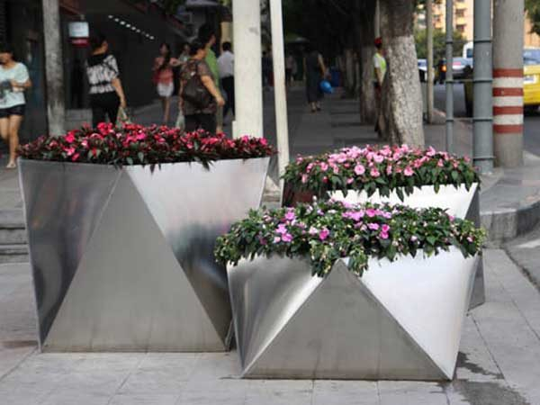 factory-wholesale-big-outdoor-stainless-steel-planter 2