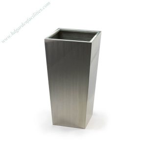 Modern tapered stainless steel planter