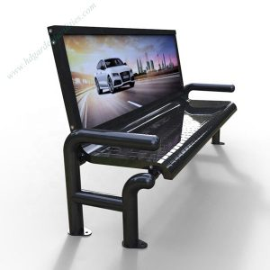 Modern outdoor advertising stainless steel bench 2 HD-GF2004