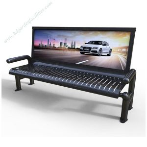 Modern outdoor advertising stainless steel bench HD-GF2004