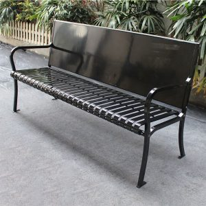 Outdoor metal advertising bench HD-GF2003 1