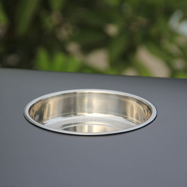 Outdoor stainless steel trash bin with ashtray HD-N14 (2)