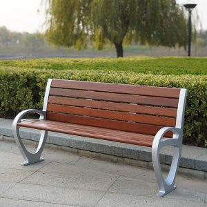 Outdoor wood aluminum garden bench GF2006