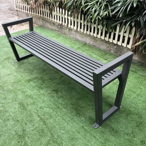 Strong and durable outdoor backless metal street bench