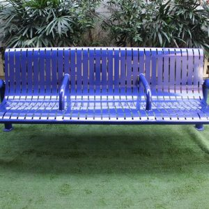 Strong and durable outdoor metal park bench seat