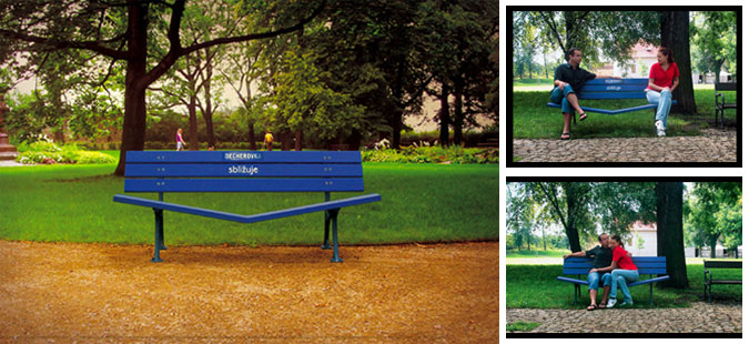 Those unexpected creative advertising benches