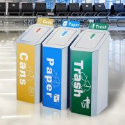 Commercial stainless steel dustbin for airport HD-N22 1