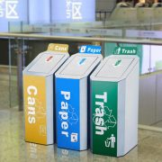 Commercial stainless steel dustbin for airport HD-N22 3