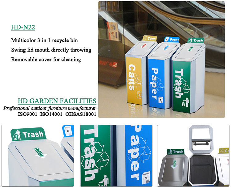 Commercial-stainless-steel-dustbin-for-airport-HD-N22-6