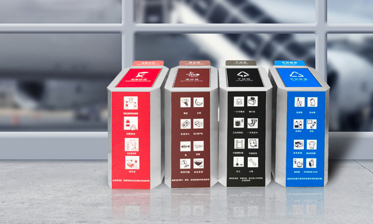 New sorting recycle bins support for waste management