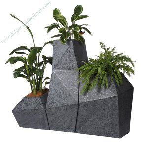 Decorative combination large fibreglass planters HD-FP203