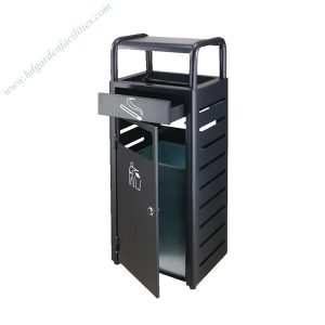 Outdoor metal dustbin with ashtray HD-N20