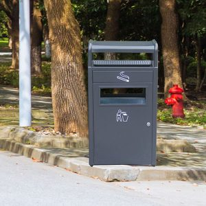 Outdoor metal dustbin with ashtray HD-N20 1