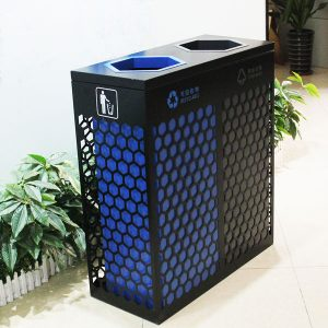 Top open mouth metal commercial trash bin HD-N25