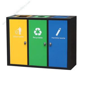 Wholesale metal rectangular trash bin HD-N27