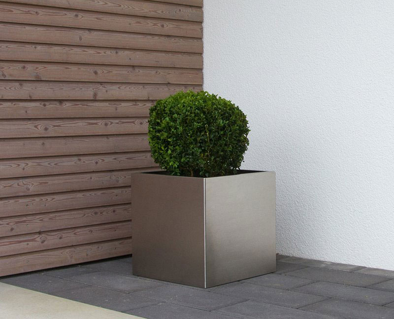 Stainless Steel Square Planter Pots 2