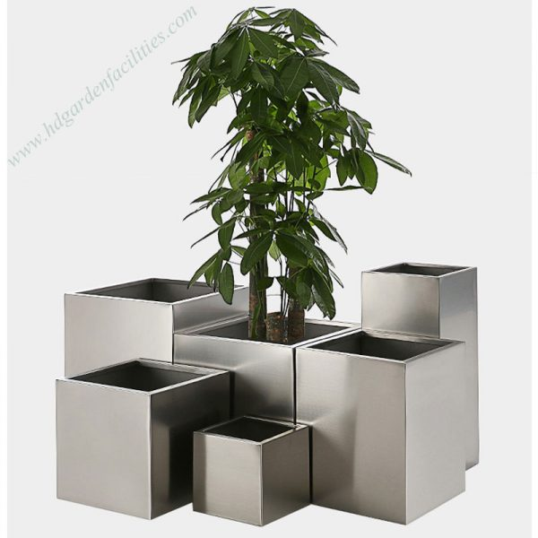 Stainless Steel Square Planter Pots 7