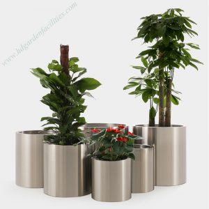 Wholesale stainless steel round flower pots