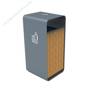 Factory wholesale metal wood outdoor dustbin HD-SW006