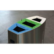 Manufacturer supply stainless steel public classified trash bins HD-NS30 (4)