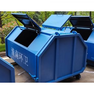 China factory 3-20 yard metal hooklift roll off dumpster HD-D011