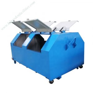 China factory wholesale mild steel hook lift trash bin HD-D013
