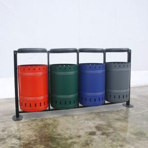 Manufactuer wholesale colour galvanized litter bins HD-NM35