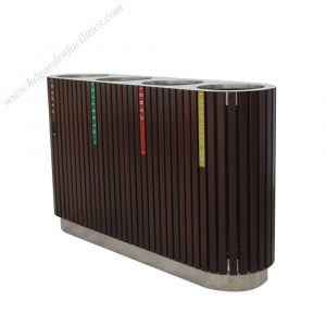 Manufacturer customize metal wood outdoor waste bin HD-SW007
