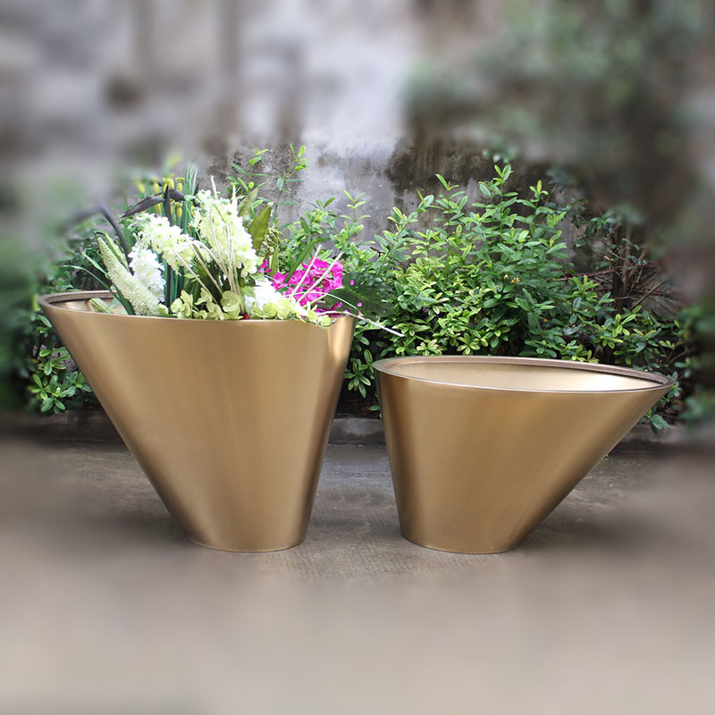 China factory bespoke unique stainless steel planters HD-SP208