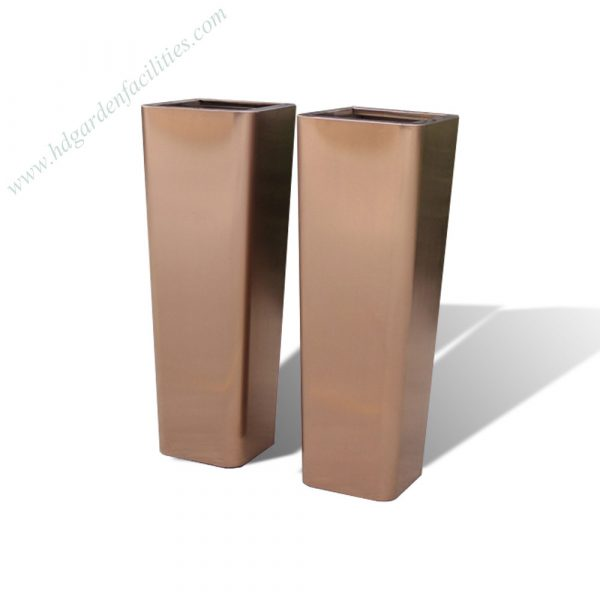 Manufactory wholesale rose gold stainless steel large planter HD-SP211 (1)