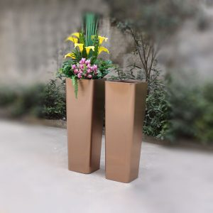 Manufactory wholesale rose gold stainless steel large planter HD-SP211