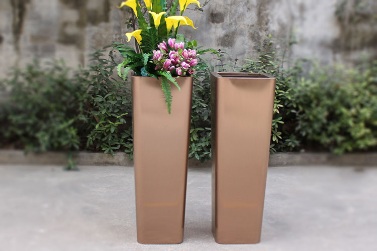 manufacturer wholesale rose gold stainless steel large planter HD-SP211