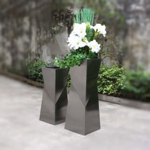 Wholesale brushed stainless steel special-shaped planter HD-SP209