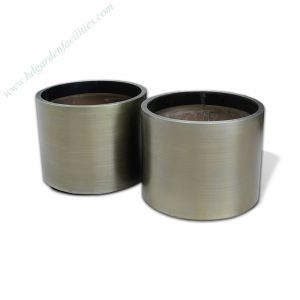 Factory wholesale bronze color stainless steel cylinder planter HD-SP215 (1)