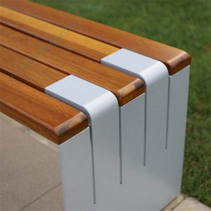 Metal and wood outdoor bench seat without backrest HD-GF2015