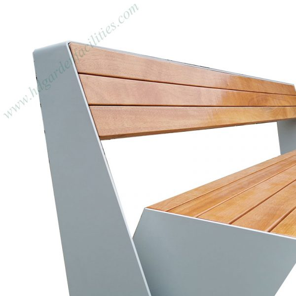 Wholesale modern outdoor bench seat with backrest HD-GF2013 (2)