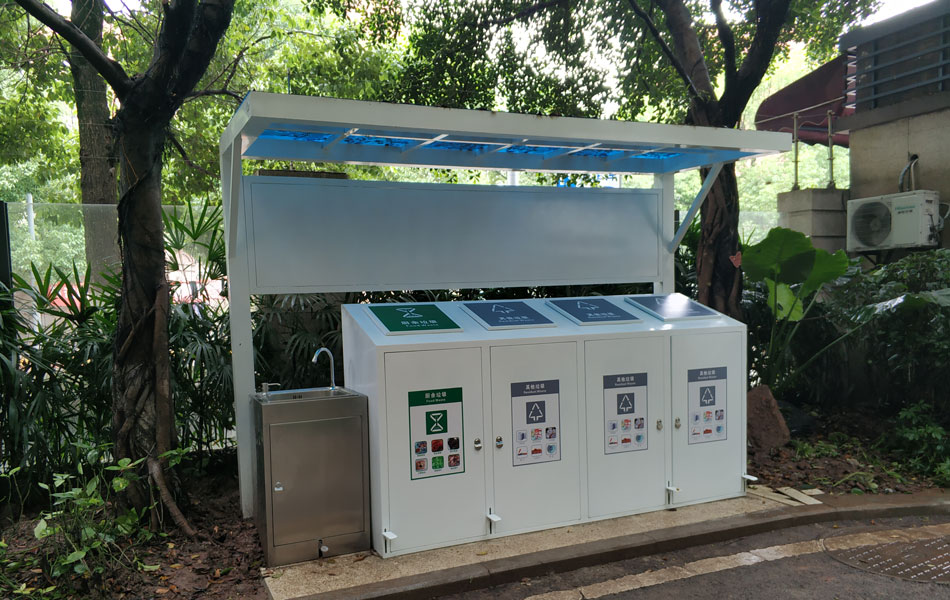 Factory wholesale community garbage sorting recycling kiosks HD-NM40