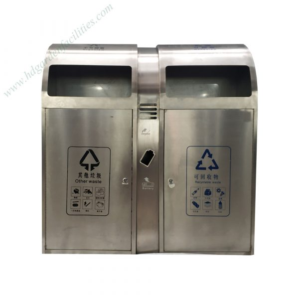 Outdoor stainless steel trash bin from China supplier HD210607 (1)