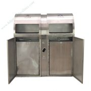 Outdoor stainless steel trash bin from China supplier HD210607 (2)