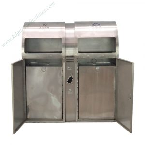 Outdoor stainless steel trash bin from China supplier HD210607