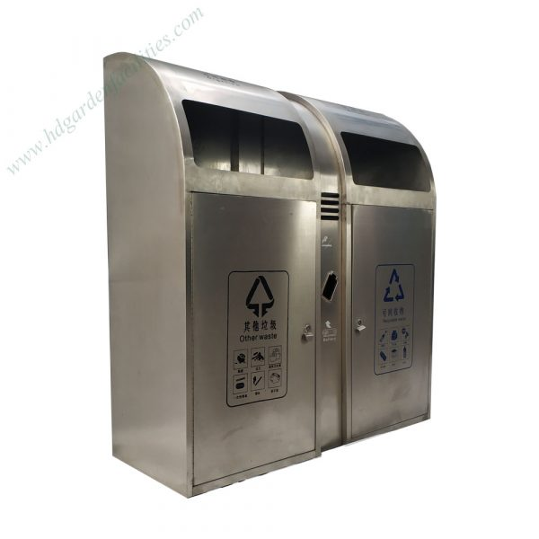 Outdoor stainless steel trash bin from China supplier HD210607 (3)